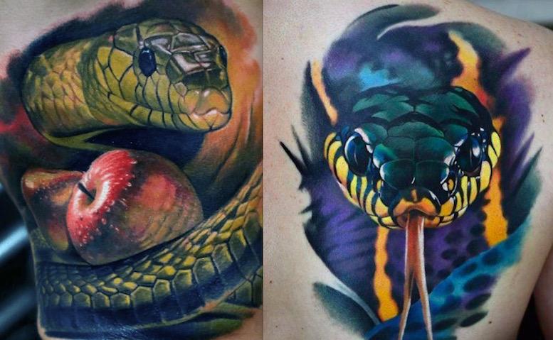 Тату Змея — шшшипящий боди-арт4