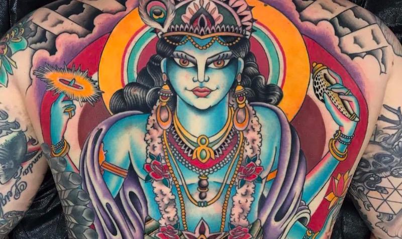 Татуировки Вишну: история, значение и символизм тату0
