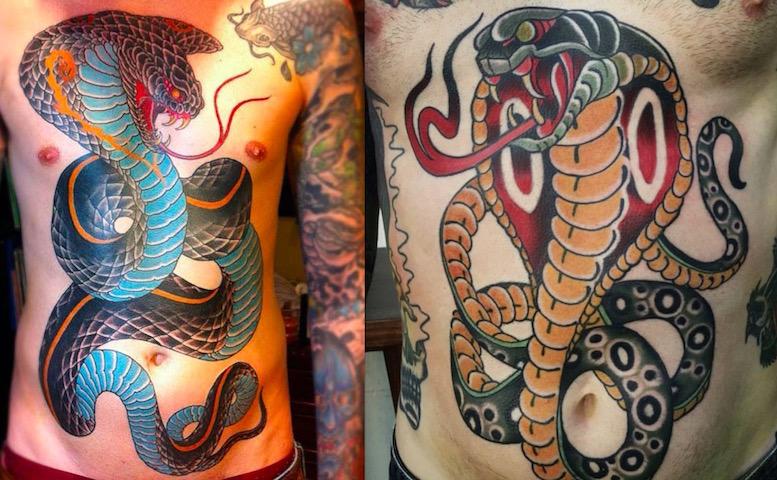 Тату Змея — шшшипящий боди-арт6