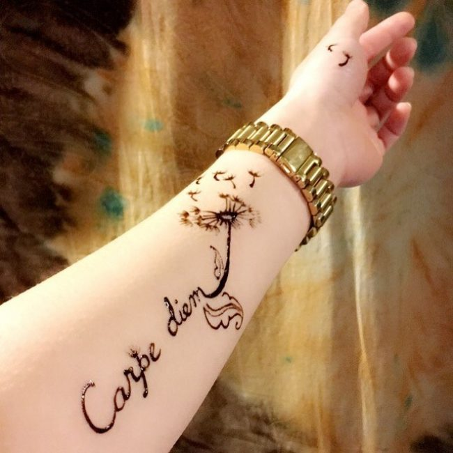 Фото и значение татуировок Carpe Diem11