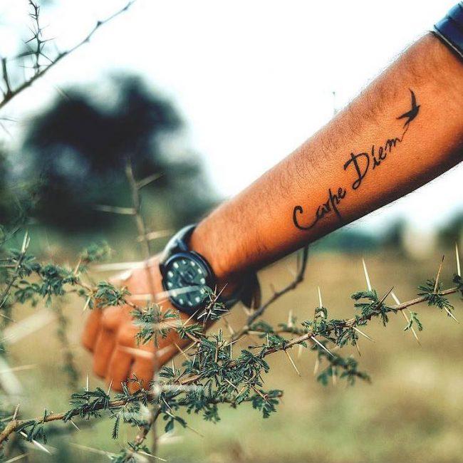 Фото и значение татуировок Carpe Diem65