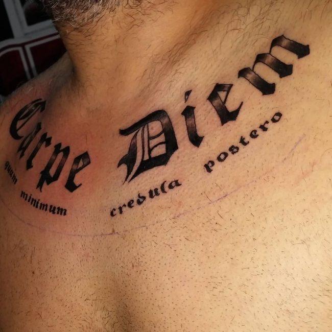 Фото и значение татуировок Carpe Diem29