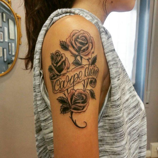 Фото и значение татуировок Carpe Diem31