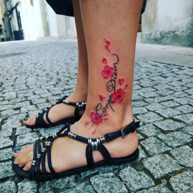 Фото и значение татуировок Carpe Diem33