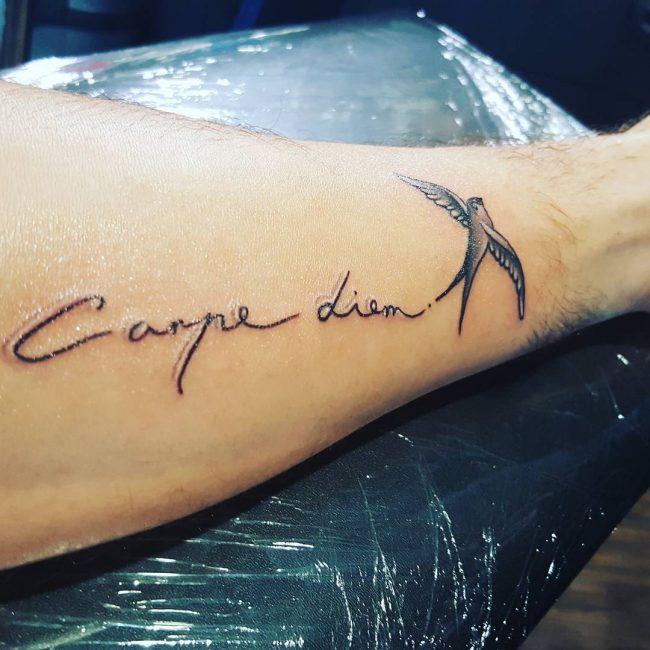 Фото и значение татуировок Carpe Diem42