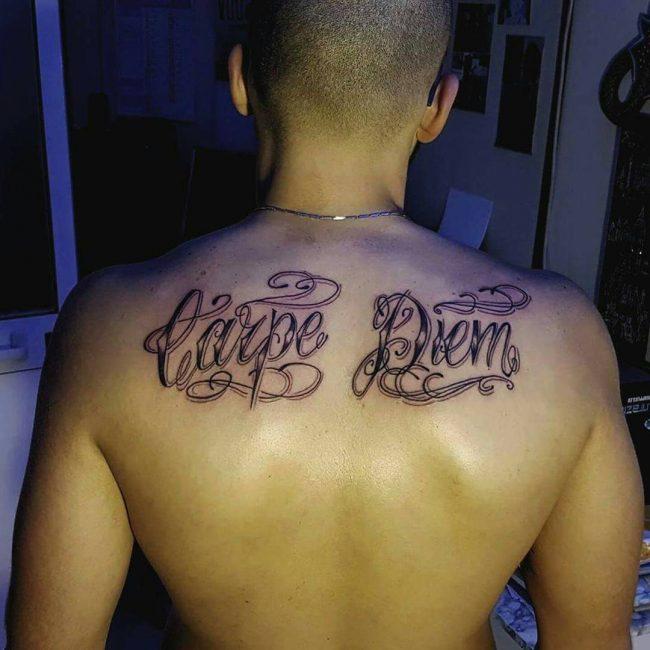 Фото и значение татуировок Carpe Diem58
