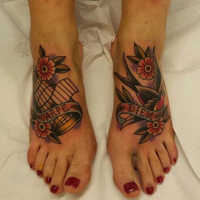 Фото и значение татуировок Carpe Diem60