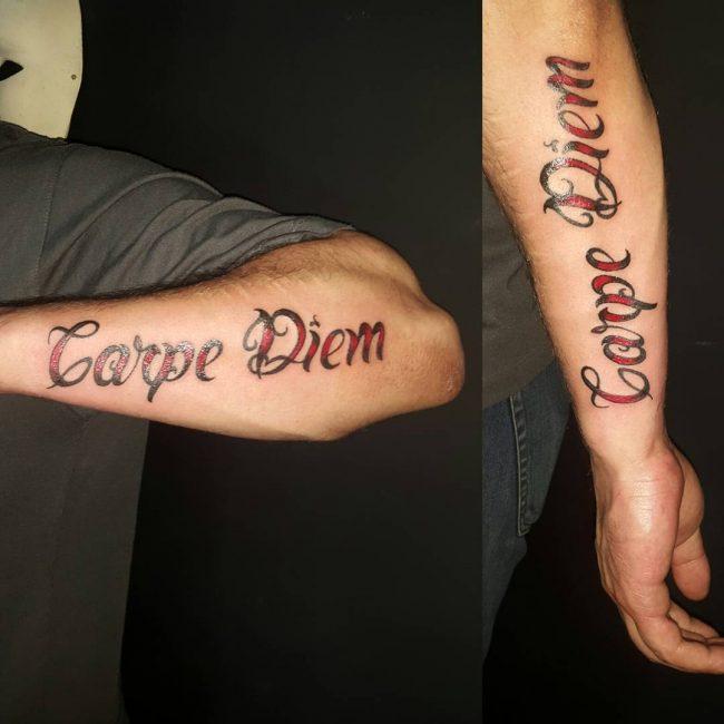 Фото и значение татуировок Carpe Diem6