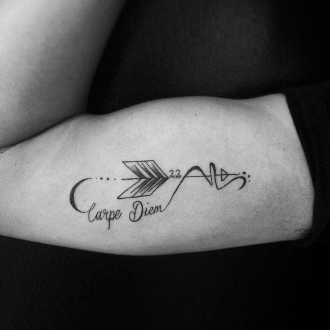Фото и значение татуировок Carpe Diem8
